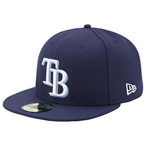 New Era Tampa Bay Rays Authentic 59FIFTY Fitted MLB Cap Game, 7 3/4 (7.75 Hut)