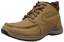 Woodland Mens Camel Leather Boots - 5 UK/India (39 EU)