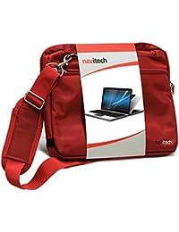 Navitech Sac de transport rouge ordinateur portable / notebook pour Lenovo Yoga Book 10.1 inch