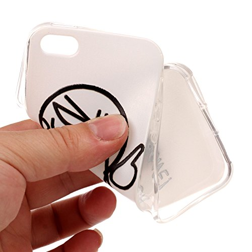 Felfy Coque Protection iPhone 5S,iPhone 5S Coque Silicone,iPhone SE Case Bumper Etui Ultra Mince TPU Silicone Transparent Housse Fleur Papillon Dentelle Flamingos Couleur Motif Silicone Portable Lanya Fantôme*