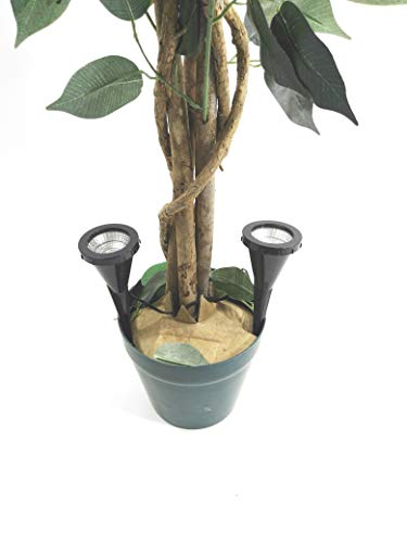 "2 x LED-Pflanzen-Strahler\""Jasmin\"" Handschalter LED-Pflanzen-Strahler-Spot Blumen-Zimmerpflanzen-Blumenkübel-Blumentopf-Strahler-Spotlight Dekorations-Stimmungs-indirekter-Strahler-Spot"