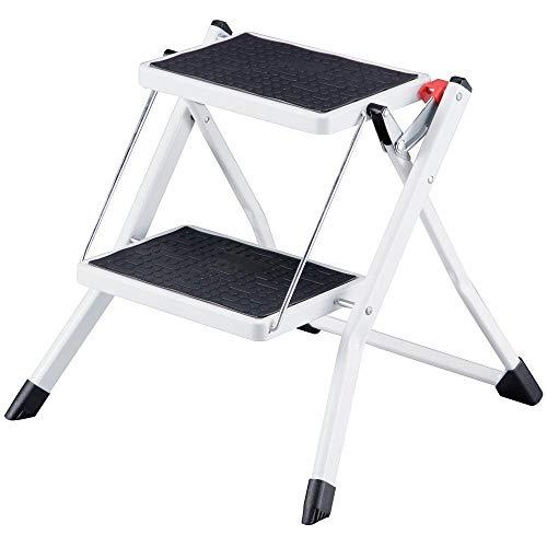 LE-TR Fußhocker L Tragbare Hop Up ool Hop Up Trittleiter, DIY Werkzeug Stufenleiter, DIY T Kleine Tragbare Trittfläche, Schwarz