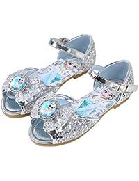 YONIER Bambini Ragazze Paillettes Scarpe Eleganti Piatto Ballerina Bimba  Partito Principessa Sandali per Bambine cc04096f428