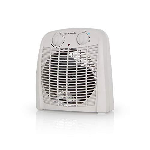 Orbegozo FH 7000 - Calefactor baño con 2 niveles de calor y modo ventilador de aire frío. 2000 W de potencia