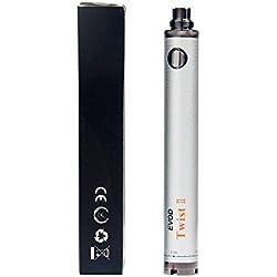 Kanke Evod Twist 2 1300mah 1600mah Batterie Evod Variable Voltage 3.3v-4.8v Ne Contient pas de Nicotine ni de Tabac (1600mAh)
