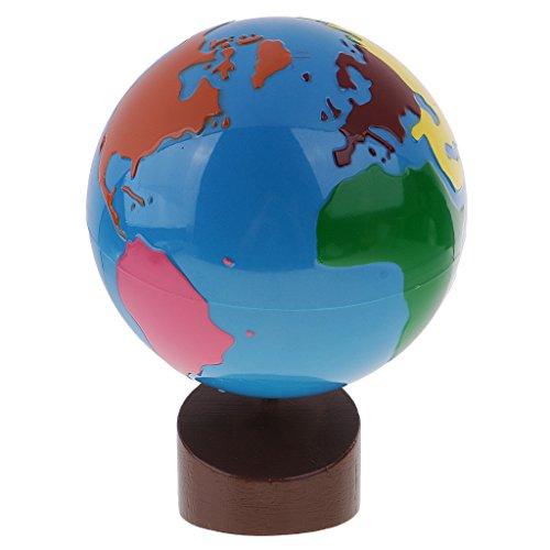 Sharplace Montessori Geografía Material-Globo de Partes de Mundo Juguete Educativo para Primera Infancia Bueno Regalo