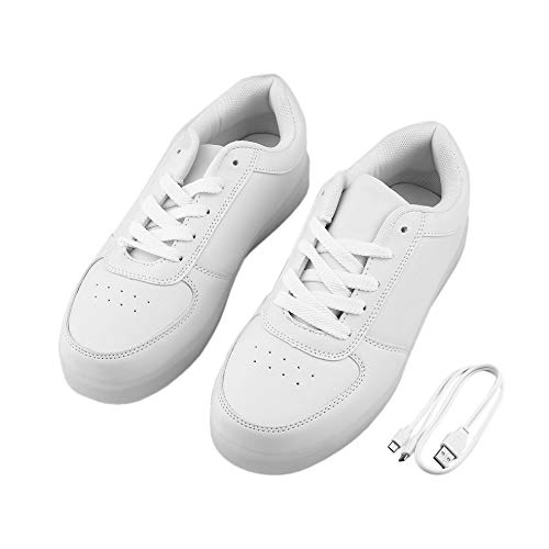 f230c7eecaa15 fengwen66 Unisex LED Low Top Light Up Shoes Flashing Sneakers USB Casual  Lace-up Shoes