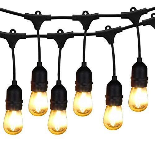 Lichterkette Leucht Steckdosen,KINGCOO Heavy Duty Vintage Edison Anschließbarer Strang Indoor...