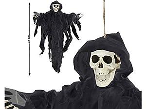 Atosa 59243 Esqueleto decorativo Unisex - Adulto, Negro, 78 x 57 cm