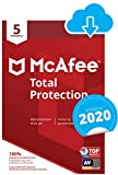 McAfee 2020 Total Protection | 5 Appareils | 1 An | PC/Mac/Android/Smartphones | Download Code...
