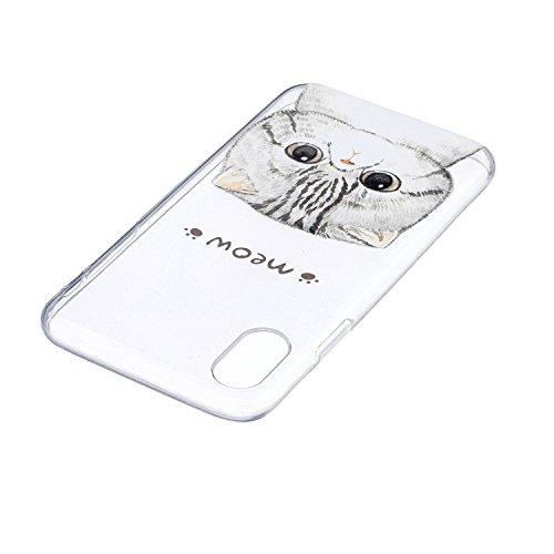 Cover iPhone X - Custodia in Silicone Morbida - Surakey iPhone X Custodia Trasparente TPU Crystal Clear Protettiva Bumper Sottile e Flessibile Back Skin Premium Gel Gomma Case Antigraffio Antiurto Pro Modello#21