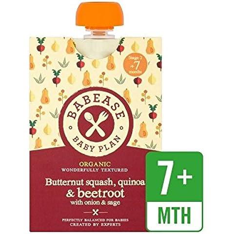 Babease Zucca Organico, Quinoa E Barbabietole Con Cipolla E Salvia 130G - Confezione da 6