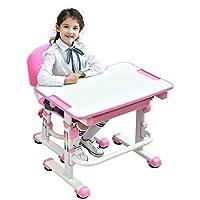 Ergonomic Kids Desk Chair Height Adjustable Children Study Desk Kids Table Chair with Cute Animal Seat Pad - Mini