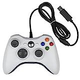 Xbox 360 Controller, Stoga Kabelgebundene USB Gamepad Controller für Microsoft Xbox 360 PC Windows7/8/8.1/10 (Weiß)