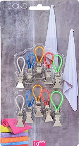 hibuy 10x Handtuch Haken/Clips/Aufhänger für Geschirrtücher, Topflappen - 5 cm -