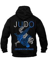 Dirty Ray Arts Martiaux Judo Sweat homme avec capuche B20C