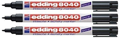 edding waeschemarker 3er Pack Edding Wäschemarker 8040 schwarz