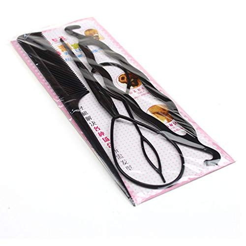 Busirde Vier Stücke aus Kunststoff-Zug-Haar-Nadel Teller-Haar-Werkzeuge DIY Haar-Styling-Zubehör-Sets Pferdeschwanz-Hersteller (Aquarium Fisch Schalen)