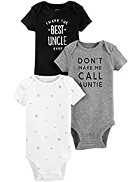 Simple Joys by Carter's 3-Pack Short-Sleeve Family Slogan Bodysuits Bebé-Niños, Pack de 3