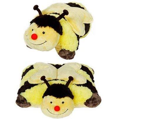 Pangifriendz 2 in 1 Kuscheltier Plüschtier Plüschkissen Kuschelkissen Big Edition Biene 40 cm CH1-0015
