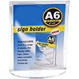 Shuban A6 Double Sided Clear Acrylic Display Signage Holder Photo Frame Table Top Menu