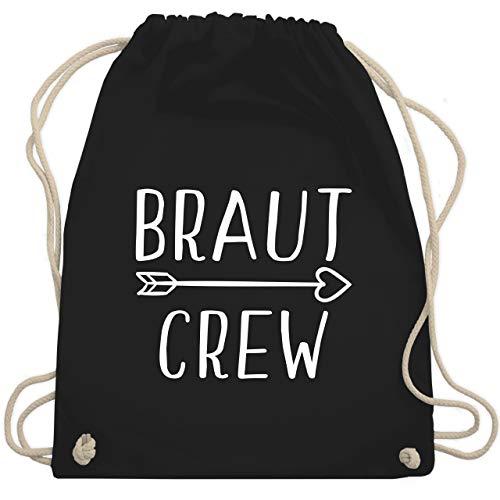 JGA Junggesellinnenabschied - Braut Crew Pfeile - Unisize - Schwarz - WM110 - Turnbeutel & Gym - Der Junggesellinnen Kostüm