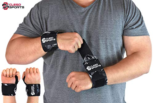 Cleso Sports Handgelenk Bandagen [Wrist Wraps] Handgelenkbandage Kraftsport, Crossfit, Bodybuilding & Fitness [2er Set] -