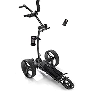 Caddy1 Elektro Golf Trolley 750 Dunkelgrau mit 2 x 250 W Motor Lithium Akku
