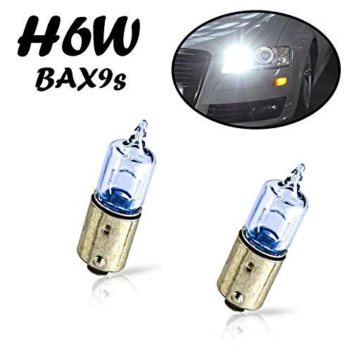 2x Jurmann H6W 12V BAX9S Blue Vision Intensiv Weiß Hecklicht Parklicht Rückfahrlicht Standlicht Kennzeichenlicht Einrichtunglicht Ersatz Halogen Auto Lampe E-geprüft