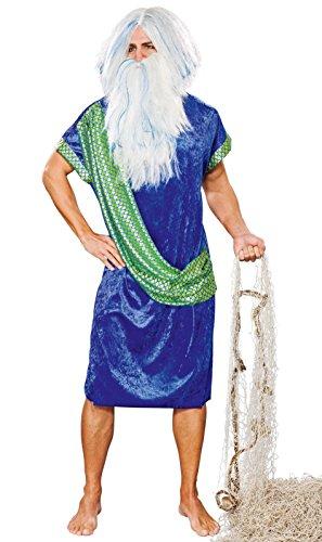 Kostüme Poseidon Erwachsene (Poseidon/Wasssermann Kostüm mit Schärpe)