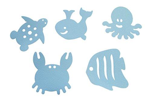Dreambaby Alfombras antideslizante para bañera Watch-Your-Step con indicador de calor, 10 piezas