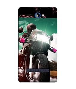 PrintVisa Designer Back Case Cover for HTC Windows Phone 8S :: HTC 8S (Motor Bike Classy Design)