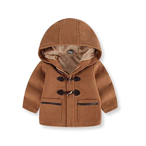 Shopaholic0709 Neugeborene Kleidung, Baby Jungen Herbst Winter Windjacke mit Kapuze und Kapuze (Braun, Marine 2T~6T)
