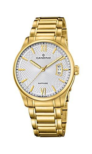 Candino Herren Datum klassisch Quarz Uhr mit Edelstahl Armband C4692/1