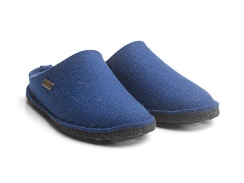Haflinger Soft, Chaussons mixte adulte Bleu