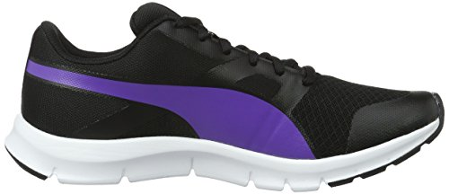 Puma Unisex-Erwachsene Flexracer Low-Top, 38 EU Schwarz (Puma Black-Electric Purple 25)
