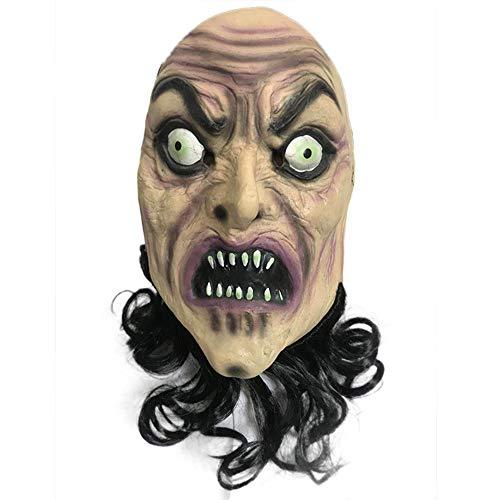 Tanz Zombie Kostüm - MX kingdom Zombie Maske Halloween Horror mit Einer Maske Tanz Ball Kostüm zu Spielen - Zombie Bart