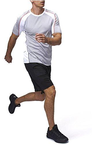 Sundried Herren Athletic Sport Top Fitness-Studio T-Shirt Fitness Bekleidung (X-Large)