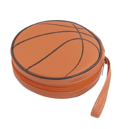 Ballon de Basketball Orange 24 CD DVD rond Style Étui-portefeuille
