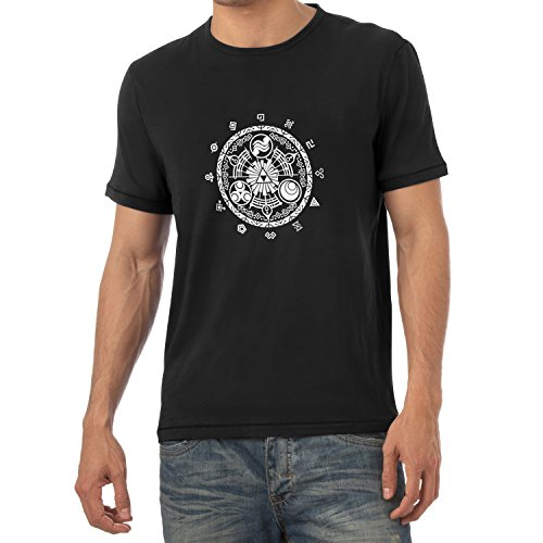 TEXLAB - Gate of Time - Herren T-Shirt Schwarz