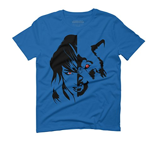 Vicious Men's Graphic T-Shirt - Design By Humans Royal Blue