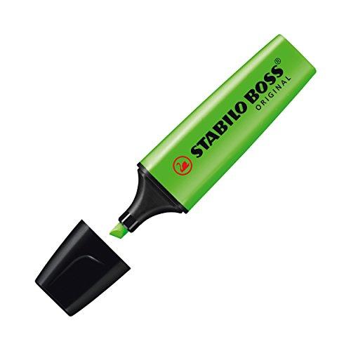 Textmarker - STABILO BOSS ORIGINAL - 10er Pack - grün