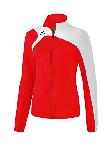Erima Damen Club 1900 2.0 Präsentationsjacke, Rot/Weiß, 40