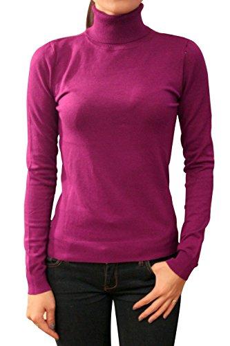 VERO MODA - GLORY NEW LS ROLLNECK NOOS, Maglione da donna, porpora (purple - violet  (prune)), S