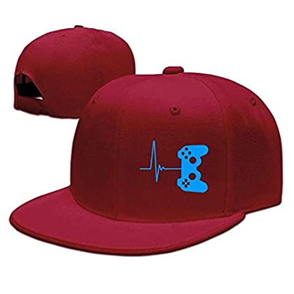 WCMBY Hat Heartbeat of A Gamer Kawaii Snapback ...