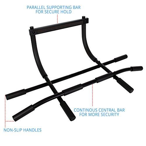 POWRX Multifunktions-/Klimmzugstange | geeignet für Türrahmen | verschiedene Griffvarianten | Max. Belastbarkeit bis 100 kg (Tür Bar)