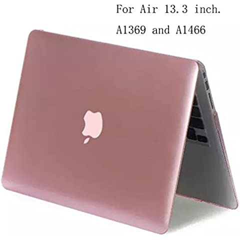 Para Apple Macbook Air 13.3, estera de goma duro caso para Apple Macbook Air 13,3 pulgadas de la cubierta Shell transporte protectora de duro plástico material,oro rosa (Para A1369