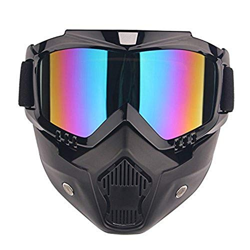 Máscara Paintball Airsoft Paint Gun Protection Gafas Fog Anti Cara Anti Cara Térmica Oído Shooting Empire para Pelo de Bola Casco de Rango Completo Marcadores de Carrera Fría Armas Máscaras,A