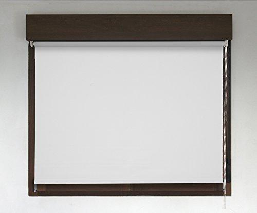 Estor TÉRMICO OPACO PREMIUM (desde 40 hasta 300cm de ancho, no permite paso de la luz y sin visibilidad exterior). Color blanco. Medida 240cm x 200cm para ventanas y puertas