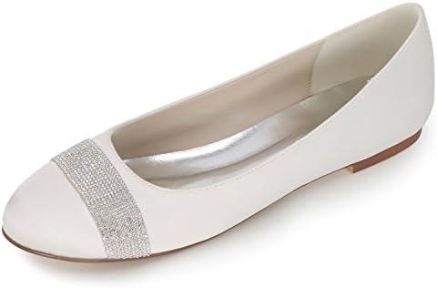 Elobaby Zapato De La Boda De Las Mujeres Zapatos De Fiesta De TacóN Cerrado Satinado TalóN/0.6cm TalóN